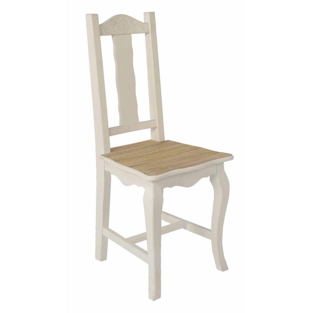 Sedia legno bianca etnico outlet mobili etnici for Sedie a sdraio ikea prezzi