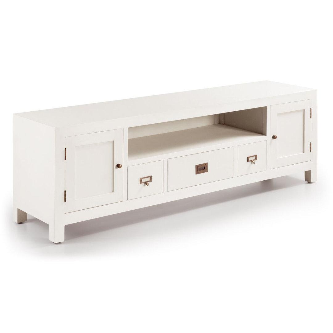 Porta tv legno bianco mobili tv shabby chic - Porta tv bianco ...