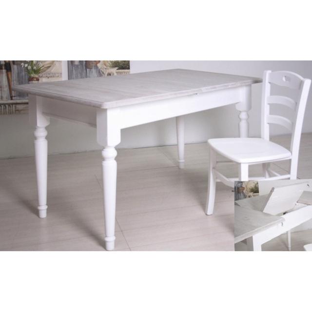 Tavolo provenzale legno bianco - Etnico Outlet mobili etnici