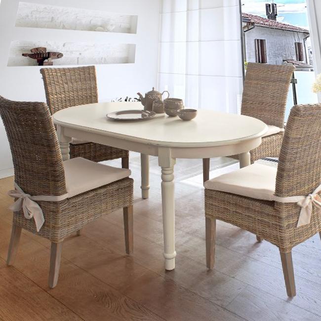 Tavolo provenzale ovale tavoli ovali provenzali for Tavolo ovale legno grezzo