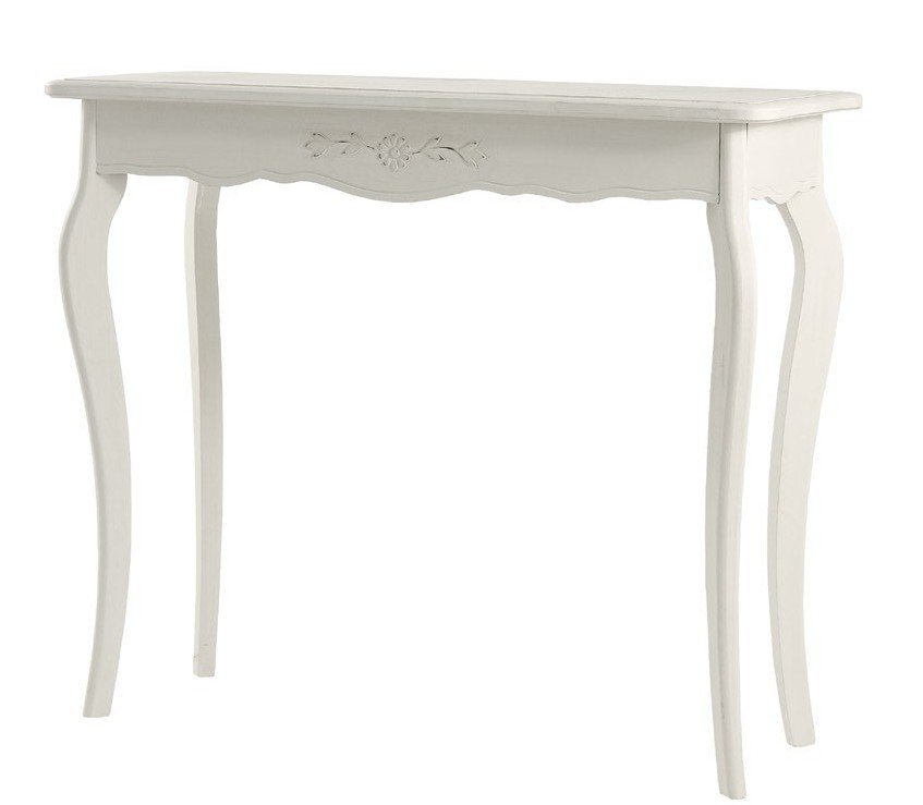 Consolle legno bianca arredo shabby chic for Consolle bianca