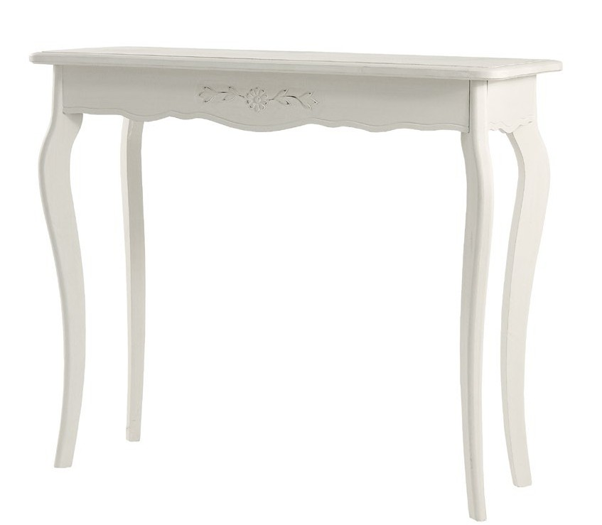 Consolle legno bianca arredo shabby chic for Consolle bianca ingresso