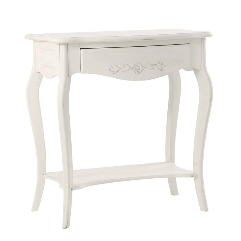 Consolle legno bianca mobili shabby chic for Consolle bianca