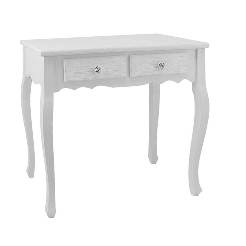 Consolle bianca decapata arredamento provenzale shabby chic for Consolle bianca ingresso