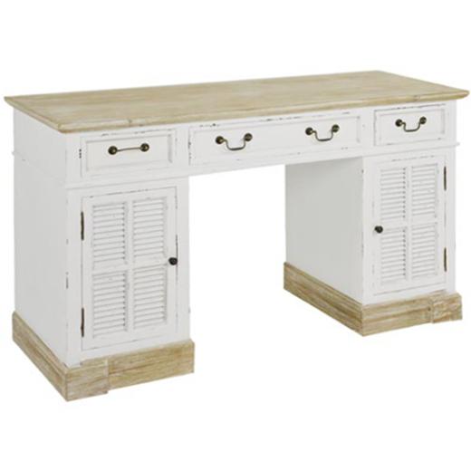 Scrivania legno bianco shabby scrivanie legno bianche - Porta computer bianco ...