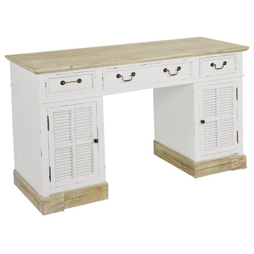 Scrivania legno bianco shabby scrivanie legno bianche for Scrivania shabby