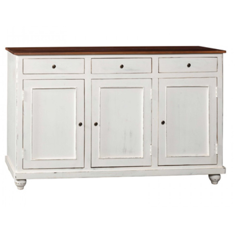 Credenza legnoshabby white mobili shabby chic outlet for Mobili buffet bassi