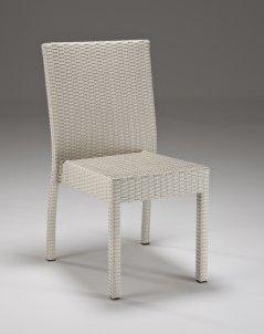 Set giardino tavolo e sedie bianco - Sedie giardino rattan ...
