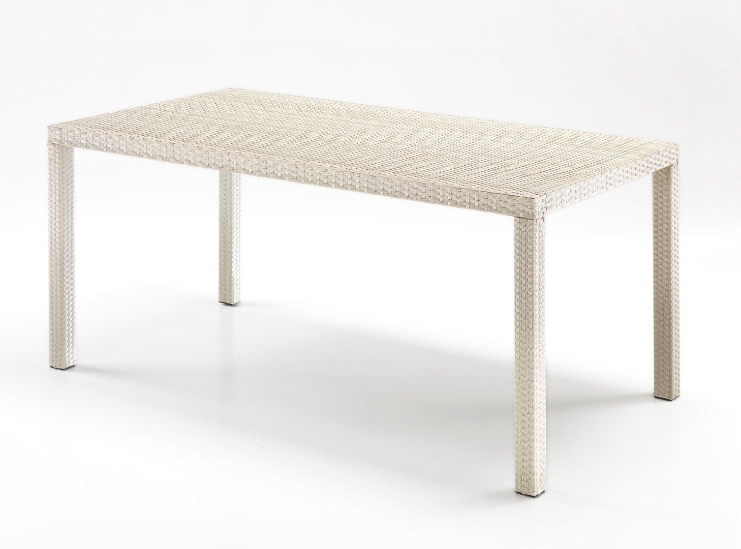 Tavolo rettangolare rattan bianco for Tavoli bianchi