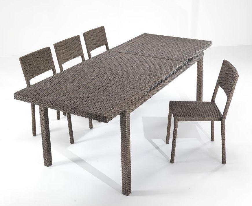 Tavolo rattan sintetico allungabile etnico outlet mobili - Tavoli allungabili per esterno ...