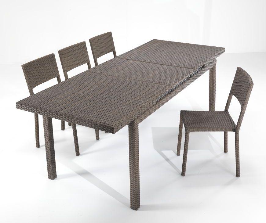 Tavolo rattan sintetico allungabile for Tavoli e sedie da giardino in offerta
