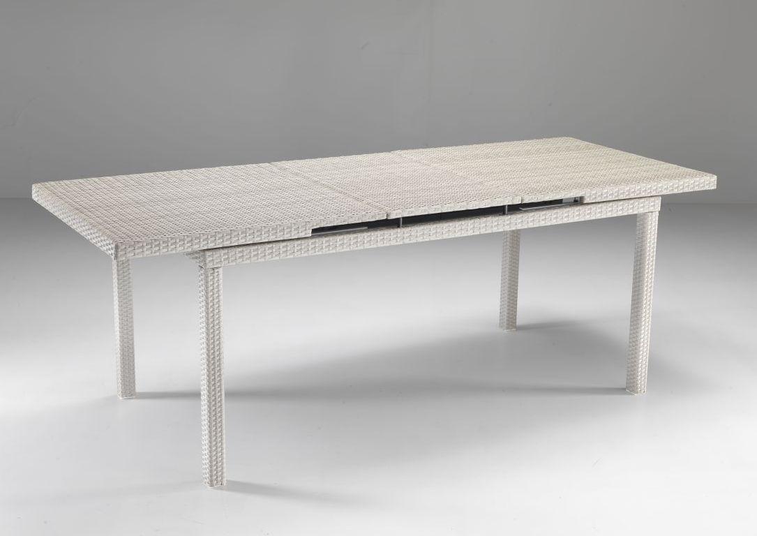 Tavolo allungabile bianco for Tavolo allungabile giardino