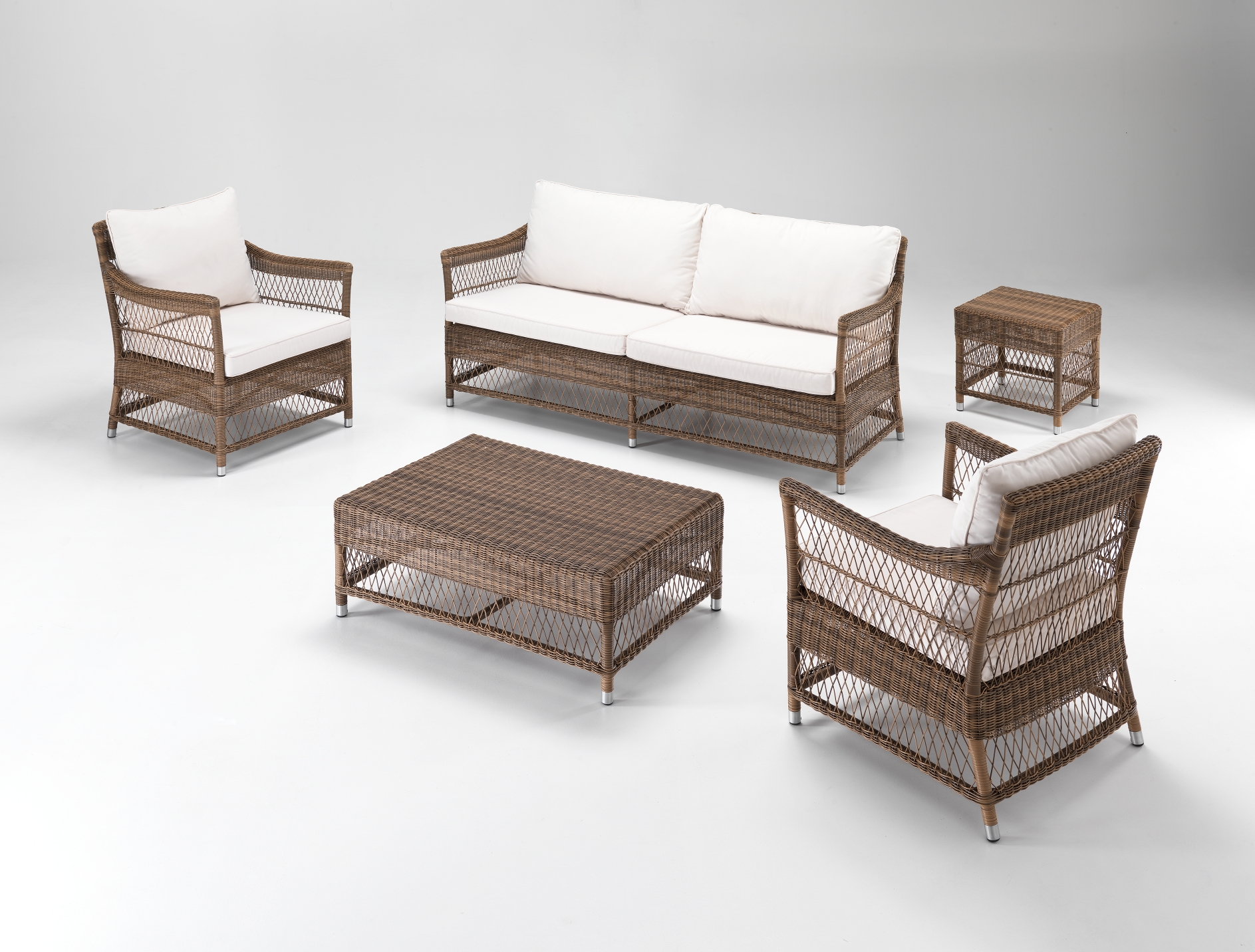 Tavolino salotto rattan sintetico bronzeetnicoutlet mobili for Salotto rattan