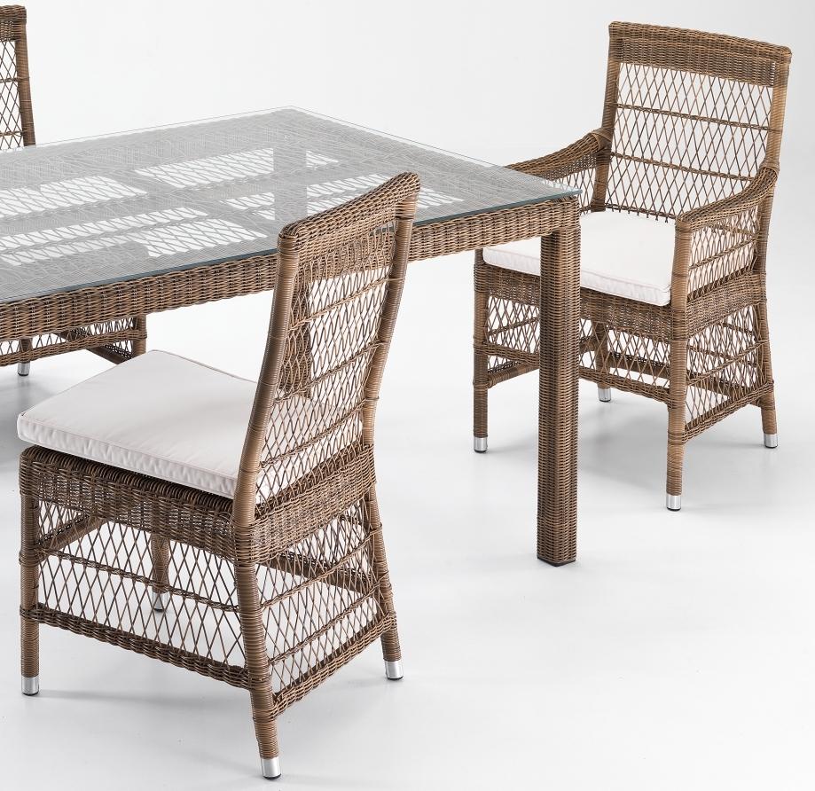 Tavolo rettangolare rattan sintetico etnico outlet mobili for Outlet giardino