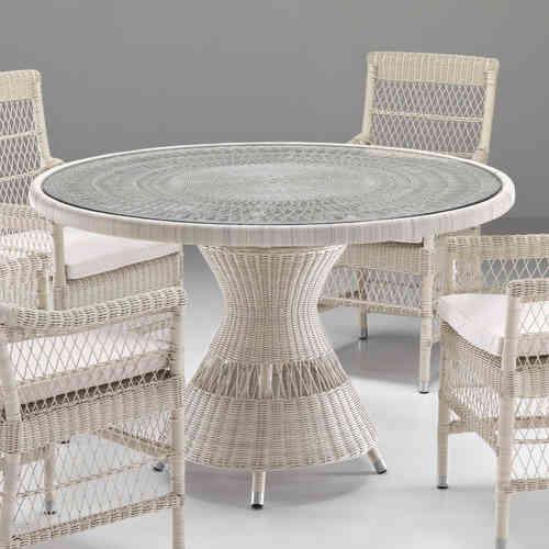 Tavoli da giardino polyrattan per esterno prezzi etnico outlet - Tavolo da giardino rattan ...