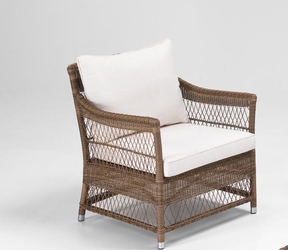 Poltrona da giardino rattan sintetico etnicoutlet mobili for Poltrone design outlet online