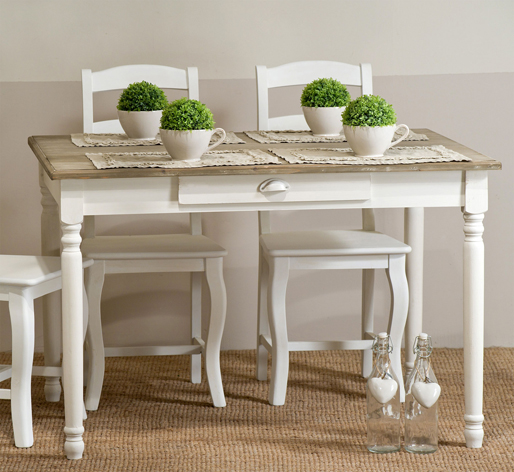 Sedia provenzale in legno bianco crema outlet mobili etnici - Mobili legno bianco anticato ...