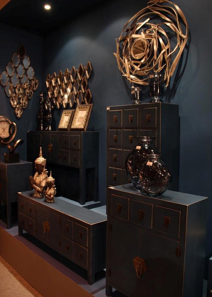 Mobile orientale cinese nero credenze stile cinese for Arredamento orientale