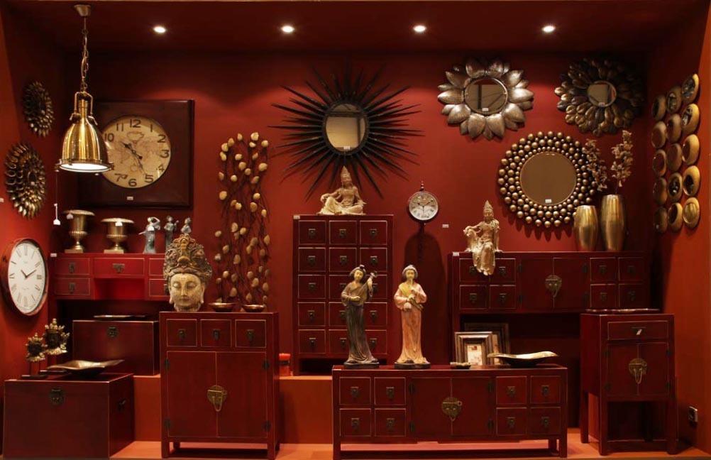 Mobiletto ingresso cinese rosso mobili etnici orientali for Arredamento orientale
