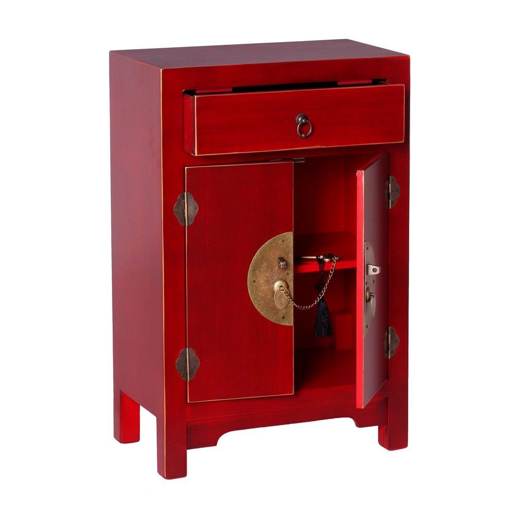 Mobiletto ingresso cinese rosso mobili etnici orientali - Ixia muebles ...