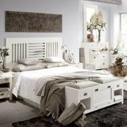 Scarpiera legno bianco shabby francese panca baule etnico outlet - Testata letto matrimoniale shabby ...