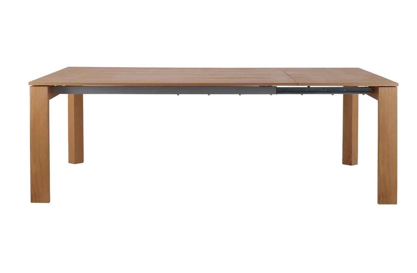 Tavolo allungabile in faggio tavoli legno massiccio - Tavolo allungabile in legno massiccio ...