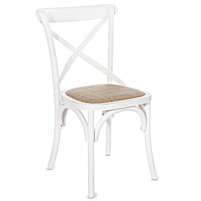sedia legno olmo bianco shabby sedie provenzali cross bianche