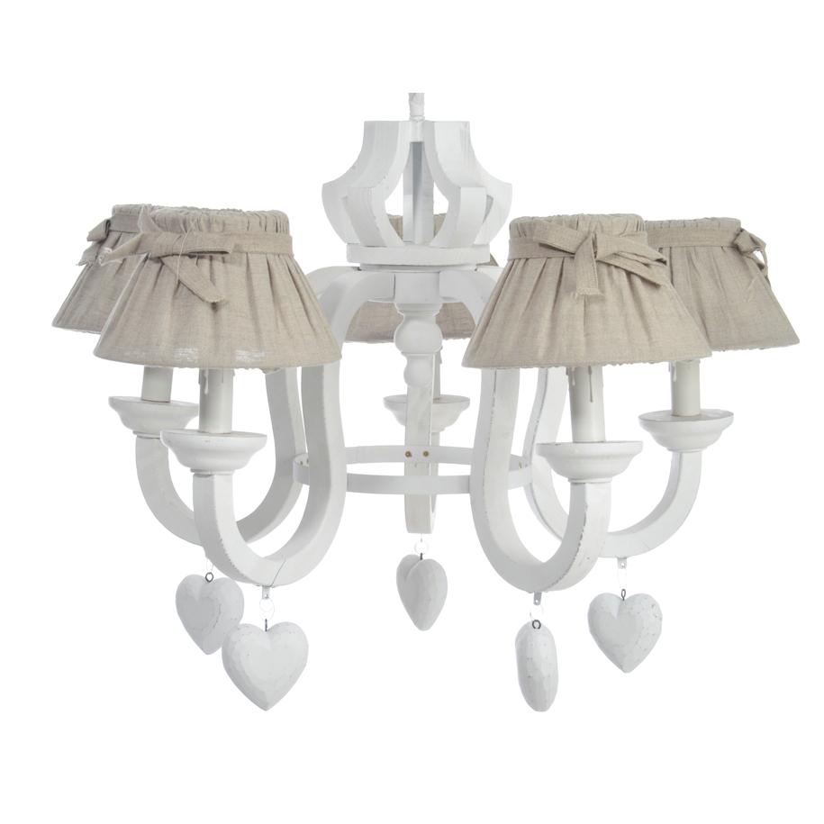 lampadari stile provenzale : Lampadario provenzale con cuori - Etnico Outlet mobili etnici