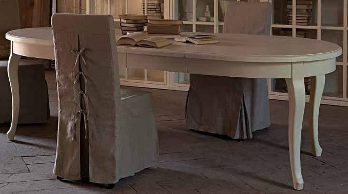 Tavolo provenzale ovale allungabile mobili provenzali for Tavolo ovale bianco design