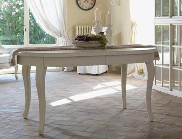 Tavolo provenzale ovale allungabile mobili provenzali for Bianchi arredamenti