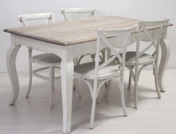 Tavolo legno bianco shabby chic tavoli provenzali prezzi for Tavolo in legno bianco