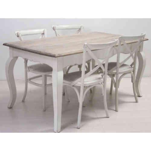 Tavolo legno bianco shabby chic tavoli provenzali prezzi for Tavoli shabby chic usati