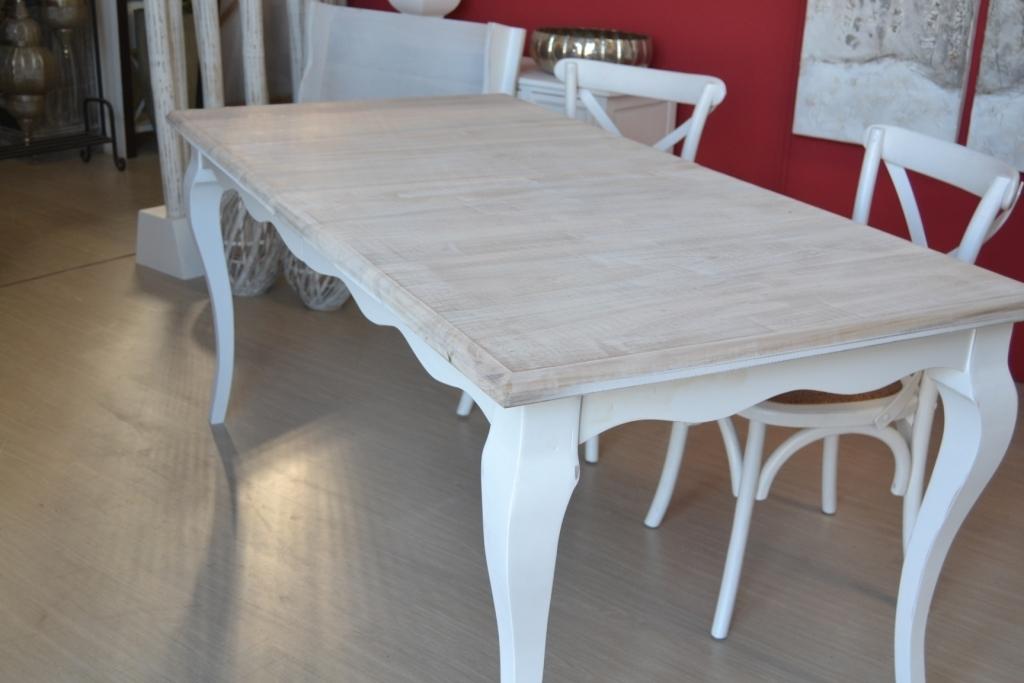 Tavolo legno bianco shabby chic tavoli provenzali prezzi for Tavoli allungabili bianchi