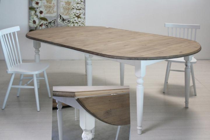 Tavolo legno shabby chic mobili provenzali shabby chic - Tavolo bianco shabby chic ...