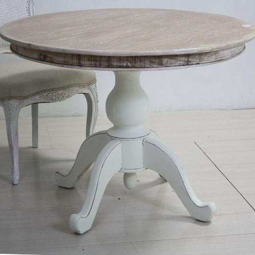 Tavolo tondo bianco shabby chic etnico outlet mobili etnici - Tavolo bianco shabby chic ...