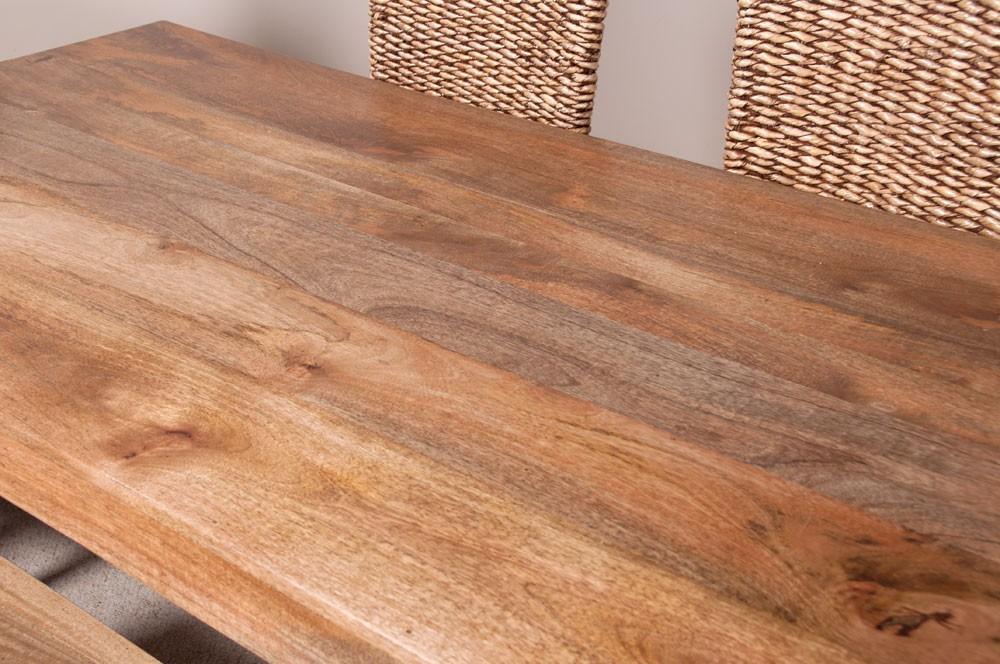 Mobili etnici tavolo etnico legno massello 140cm - Tavoli in legno massiccio ...