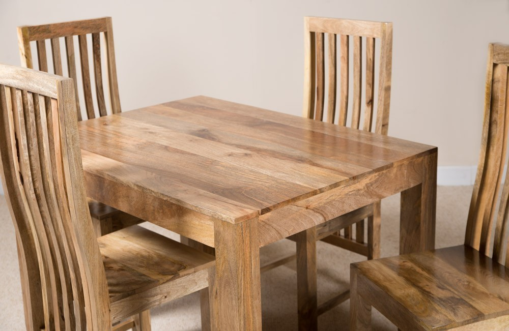 Mobili etnici tavolo etnico legno massello 120cm - Tavolo legno massello ...