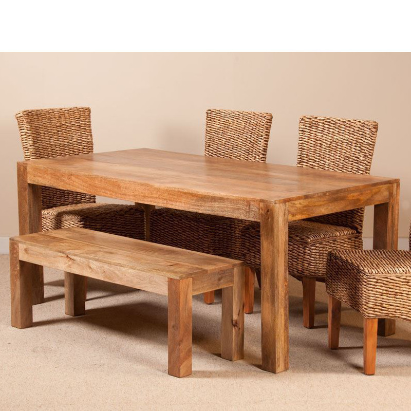 Mobili etnici tavolo etnico legno massello 160cm - Tavolo legno massello ...