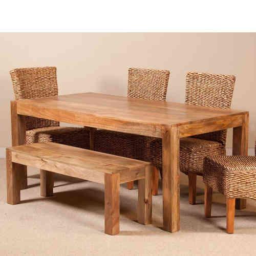 Tavoli etnici legno vendita online prezzi scontati etnico for Tavolo legno naturale