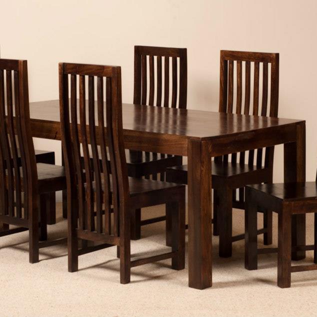 Tavolo legno massello scuro 160cm mobili etnici tavoli vintage - Tavolo noce massello ...