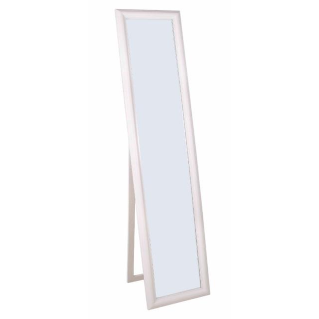 Specchio bianco da terra etnico chic novit on line for Specchio girevole da terra