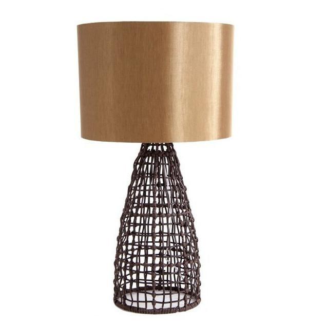 LAMPADA DA TAVOLO ETNICO CHIC lampade da tavolo etnico marrone IX50331  eBay