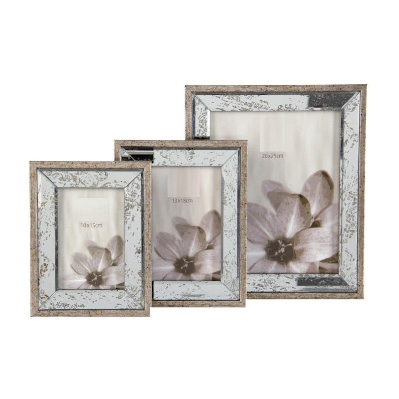 Cornice portafoto legno e specchio oggettistica provenzale - Specchio provenzale ...