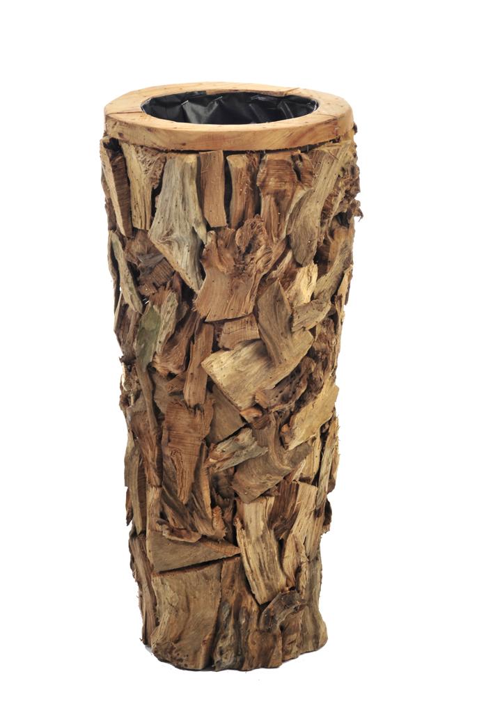 Vaso cachepot legno naturale for Vasi di legno