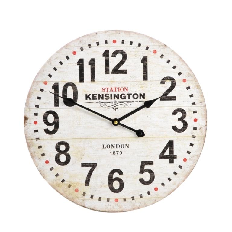 Orologio da muro legno orologi vintage industrial etnici chic for Orologio da muro shabby