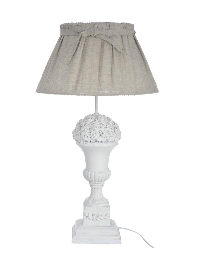 Lampada da tavolo bianca shabby chic - Etnico Outlet Offerte