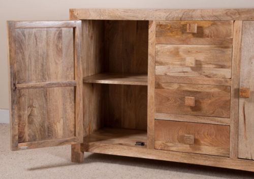 Mobile credenza etnica legno naturale outlet mobili etnici - Mobili legno naturale ...