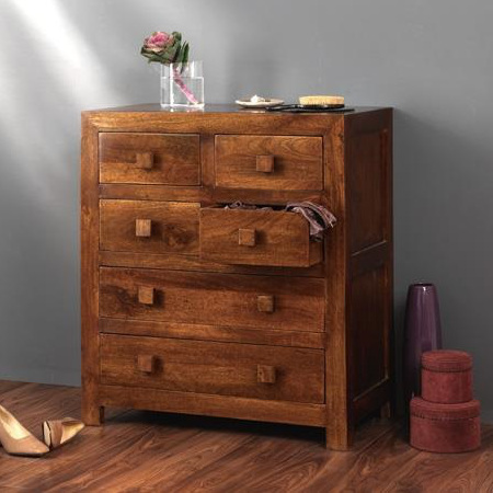 Cassettiera etnica 6 cass legno massello outlet mobili etnici for Mobili 6 cassetti