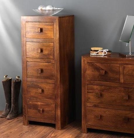 Cassettiera etnica 5 cass col mogano outlet mobili etnici for Cassettiera legno