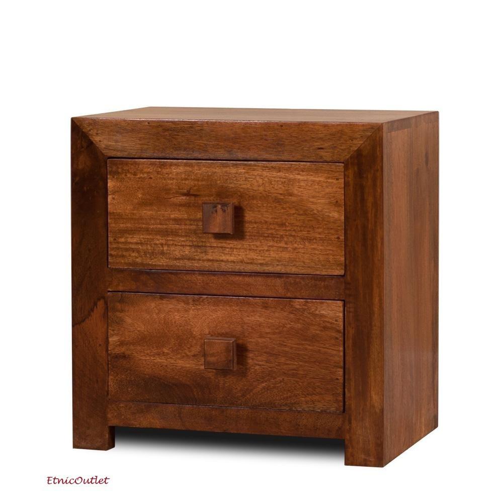 Comodino etnico legno massello Etnico Outlet mobili etnici